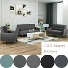 1/2/3 Seat Chair Loverseat Sofa Wood Frame Couch Living Room Home Furniture Set