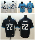 Men's Tennessee Titans #22 Derrick Henry Blue/Navy New 2018 Game Jersey Sewn on eBay