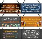 Funny Bar Pub Man Cave Shed Signs Plaques Wall Decor Home Alcohol Novelty Gifts