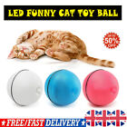 LED Pet Motion Ball Toy Flash Electric Activated Cat Dog Playing Waterproof UK