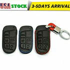 PU Leather Smart Remote Key Fob Holder Chain Case Cover For Jeep Grand Dodge Ram $14.88 CAD on eBay