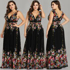 US Ever Pretty Plus Size Sexy V Neck Long Evening Prom Gown Cocktail Party Dress