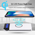 2019 New Qi Wireless Charger Power Bank 10000mAh LED LCD External Battery