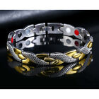 UK New Therapeutic Energy Healing Bracelet Stainless Magnetic Therapy Bracelet