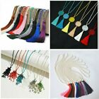 Fashion Tassel Silk Beads Crystal Pendant Necklace Long Sweater Chain Jewelry