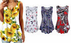 Kyпить Women Swing Tunic Summer Flare Tank Top Shirts Sleeveless Beach Cover Floral  на еВаy.соm