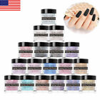 NICOLE DIARY 10g Nail Dipping Powder Matte Glitter Pink Natural Dry Tips Design