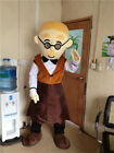 Xmas Oven Break Mascot Gingerbread Man Costume Tailor Suit Outfit Cosplay Unisex