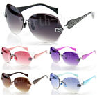 Kyпить New Womens Sunglasses Shades Fashion Designer Rimless Round Hexagon Large Wrap на еВаy.соm