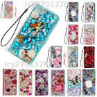 Flip Leather Phone Cases Bling diamonds stand wallet covers & straps For Alcatel