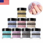 NICOLE DIARY 10g Holographic Dipping Powder Glitter Purple Nail Tips Decoration