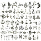 Wholesale Antique Silver Charms Pendants Carfts Fashion Bracelet Jewelry Finding