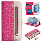 WOMEN Lace Leather Wallet Card Slot Stand Flip Case Cover For iPhone 7 8 Plus 6s