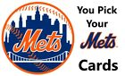 You Pick Your Cards - New York Mets Team - Baseball Card Selection on Ebay