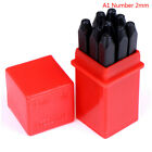 Numbers stamps craft set letters punch steel metal leather tool case HU
