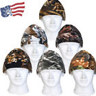 Cold Weather in Winter Camo Woodland Hunting Fleece Beanie Cap Hat Head Ear Warm