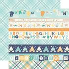 "Border Strips - Hello Baby Boy Double-Sided Cardstock 12""X12"" - 25/pack"