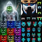 Halloween LED Light Up Masks Purge Movie Flash Wire Scary Cosplay Party Props