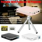 Portable 4K Projector HDMI Input DLP Mini Home Cinema Projector For Android iOS