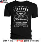 Seattle Seahawks T-Shirt JD Whiskey Graphic SEA Men Cotton JD Whisky $10.75 USD on eBay