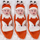 Kyпить Cartoon Fox Newborn Baby Girl Boy Swaddle Wrap Blanket Sleeping Bag+Hat Costume на еВаy.соm
