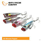 Savage Gear 3D Minnow Popper Lures - Bass Wrasse Perch Pike Sea Fishing Tackle