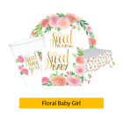 FLORAL BABY GIRL Sweet New BABY SHOWER Girl Range - Flower Tableware Decorations