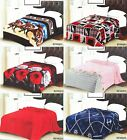 New light weight Throw soft Flannel Blanket Queen Size Mix Designs image