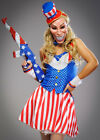 Womens The Purge Style Uncle Sam USA Costume
