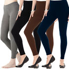 Full Length Cotton Leggings High Waist Lycra Active Pants Stretch Size  Womens