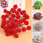 200x Mini Christmas Foam Frosted Fruit Artificial Holly Berry Flower Home Decor,