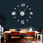 Cafe DIY Large Wall Clock Frameless Modern Design Wall Decor