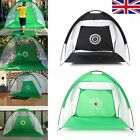 Foldable Golf Driving Cage Practice Chipping Hitting Net Golf Training Aid Cage