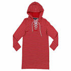 Tommy Hilfiger Womens Dress Long Sleeve Hooded Flag Logo Red Stripe Small New Th