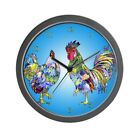 CafePress Rooster And Hen Unique Decorative 10 Wall Clock (676878587)