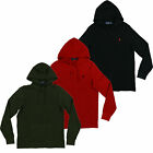 Polo Ralph Lauren Mens Thermal Hoodie Pullover Waffle Shirt S M L Xl Xxl New Nwt