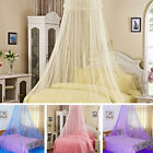 Elegant Round Lace Curtain Solid Dome Bed Canopy Netting Princess Mosquito Net image