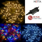NETTA 100-1000 LED String Fairy Lights Plug In 10M-100M Waterproof 8 Modes Xmas