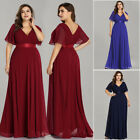 US Ever-Pretty Plus Size V Neck Long Bridesmaid Dresses Wedding Party Ball Gowns $40.49 USD on eBay