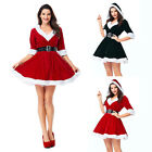 Mrs Santa Claus Christmas Fancy Dress Xmas Womens Adults Costume Outfit 03