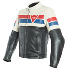 Dainese 8-Track Leather Jacket Black Ice Red Blue Motorcycle Jacket NEW