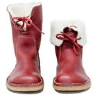 Womens Winter Warm Ankle Boots Ladies Fur Lined Lace Up Flats Leather Snow Shoes