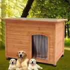 3 Size Wooden Dog Pet Kennel Timber Cage Outdoor House Home Shelter Animal Hut