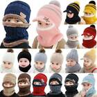 Toddler Baby Kids Boy Girls Warm Knitted Beanie Cap Winter Hat Circle Scarf Set