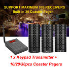 Restaurant Wireless Calling System Keypad Transmitter 10/20/30PCS Coaster Pagers