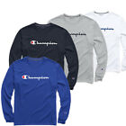 Classic Champion Men Jersey Script Logo Long Sleeves T Shirt S XL