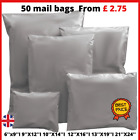 50 BAGS  STRONG POLY MAILING POSTAGE POSTAL QUALITY SELF SEAL GREY CHEAPEST  UK