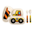 Kids Children Cutlery Plate Dinner Eating Set Spoon Fork Baby Dishes Utensils C