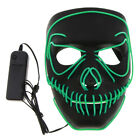 Cool LED Light up Mask Glow Demon Stitched Halloween Cosplay Costume