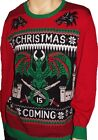 Mens Winter Is Coming Ugly Christmas Sweater Party L XL XXL Game of Thrones NEW